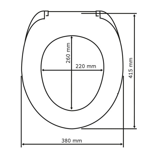 Fialové WC sedátko Wenko Prima, 41 x 38 cm