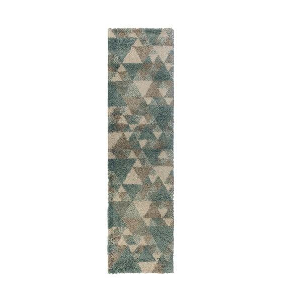 Szaroniebieski dywan Flair Rugs Nuru, 60x230 cm