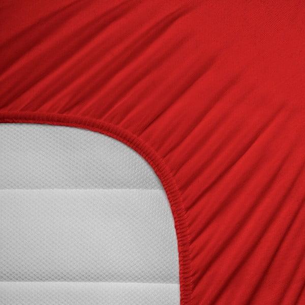 Elastické prostěradlo Hoeslaken 160-180x200 cm, červené