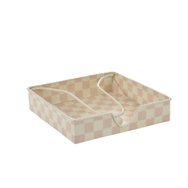 Držák na ubrousky, bílá/růžová