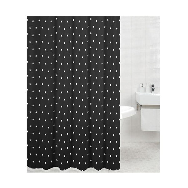 Sprchový závěs Black Spot, 180x180 cm