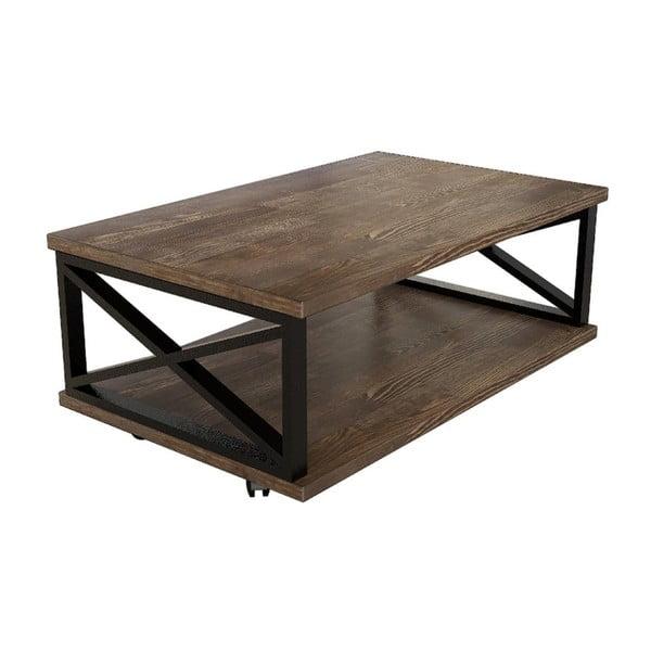 Konferenční stolek z borovicového dřeva Yuso Walnut
