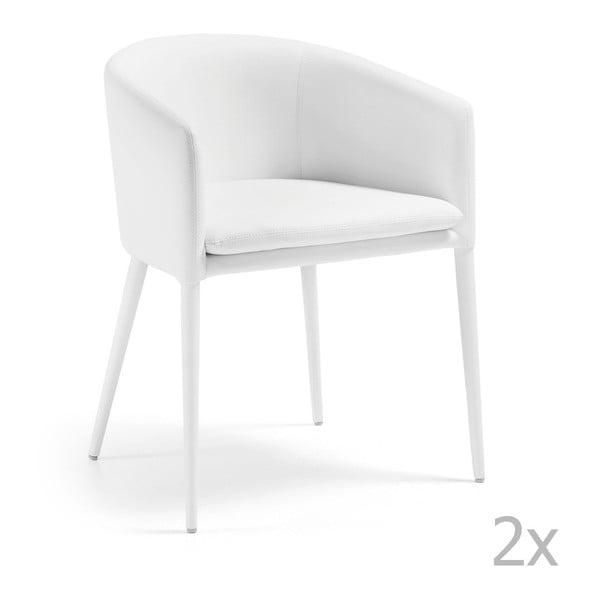 Sada 2 bílých židlí La Forma Harmon