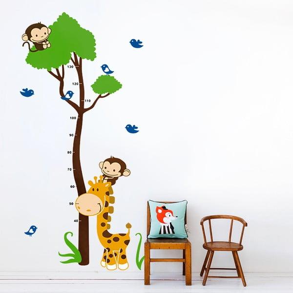 Samolepka na stěnu Strom a zvířátka, 60x90 cm