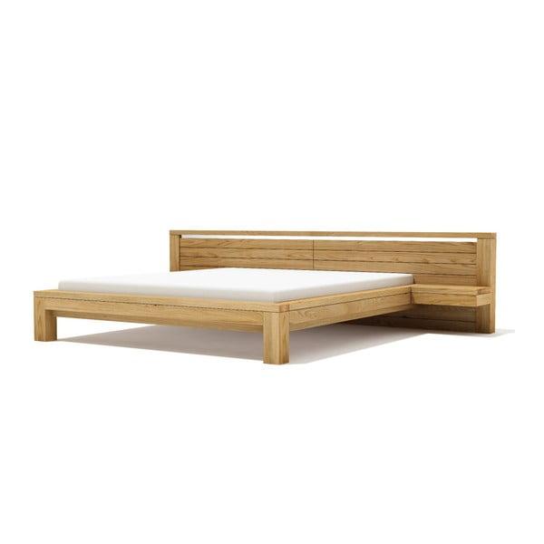 Pat din lemn de stejar Javorina Next, 160 x 200 cm