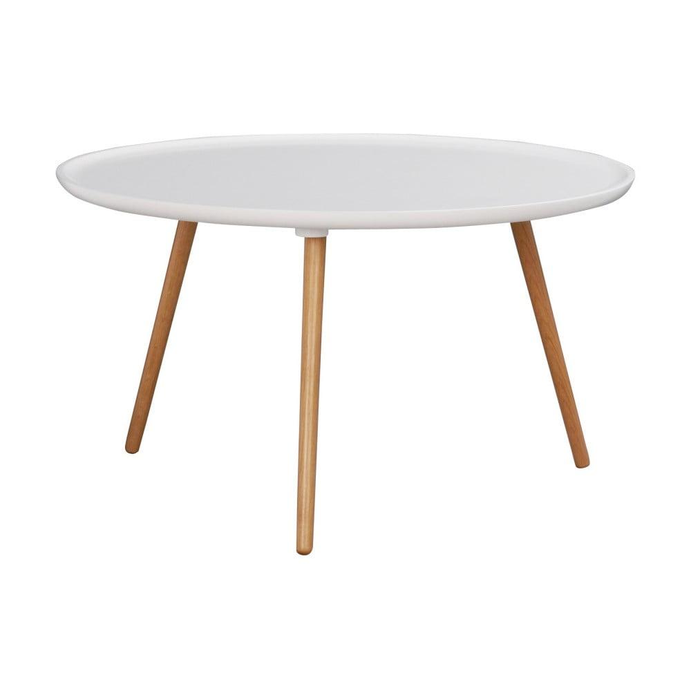 Bílý dubový konferenční stolek Folke Dellingr, ⌀ 80 cm
