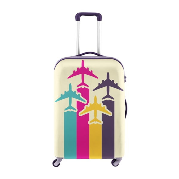Obal na kufr s motivem letadel Oyo Concept, 67 x 43 cm