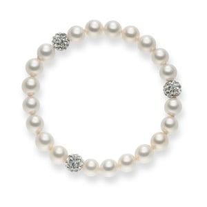 Perlový náramek White Lady, 19 cm