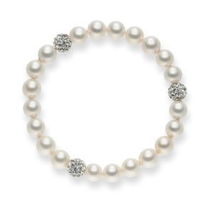 Perlový náramek Pearls Of London White Lady, 19 cm
