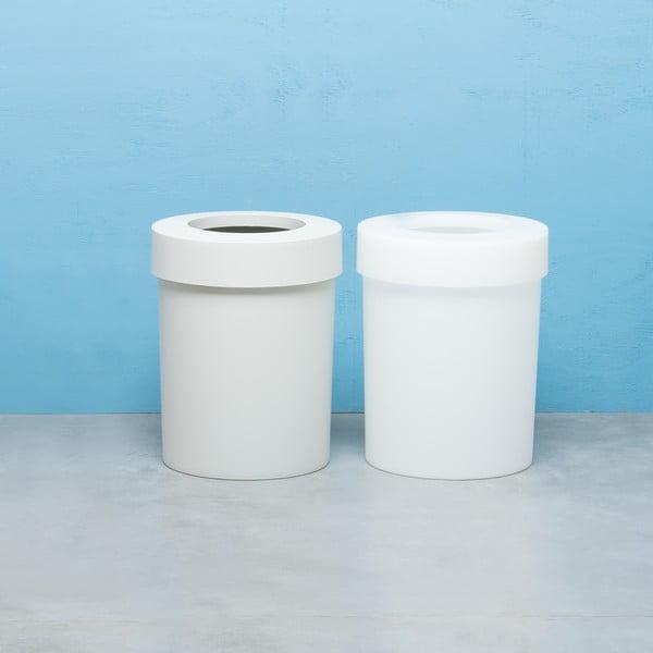 Odpadkový koš Cap, 20 l, bílošedý