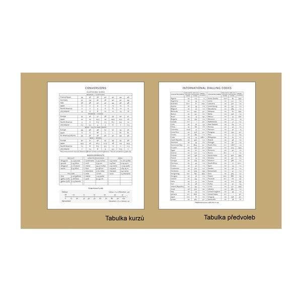 Diář na rok 2014 - Foiled 13x18 cm, vertikální výpis dnů