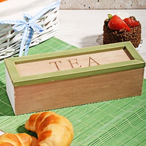 Box na čaj se 3 přihrádkami Herbal