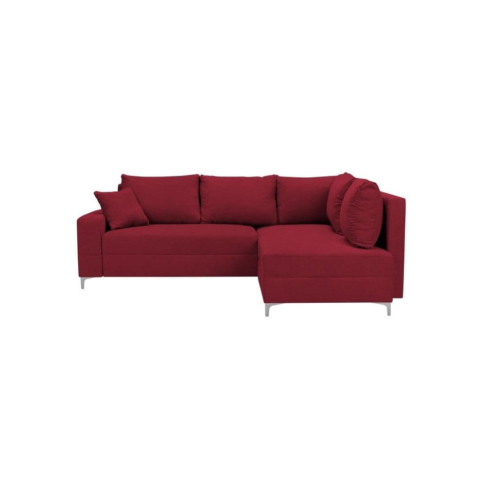 Červená rozkládací rohová pohovka Windsor & Co Sofas Zeta, pravý roh