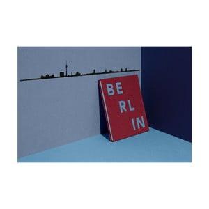 Decorațiune de perete cu silueta orașului The Line Berlin XL, negru