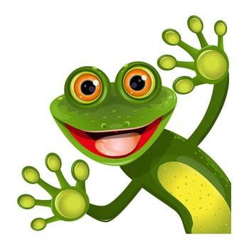 Autocolant de perete Green Frog 50 x 50 cm verde