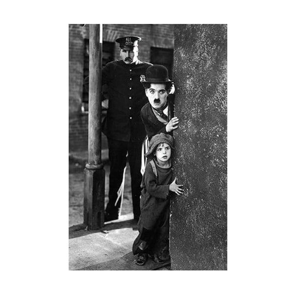 Fotoobraz Charlie Chaplin, 81x51 cm