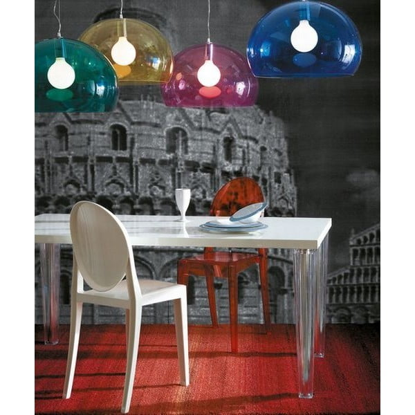 Transparentní stropní svítidlo Kartell FL/Y, ⌀52cm