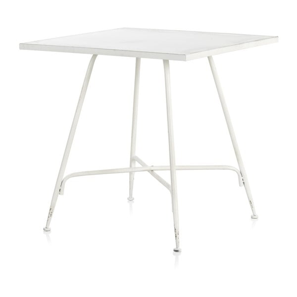 Biały metalowy hoker Geese Industrial Style, 80x80 cm