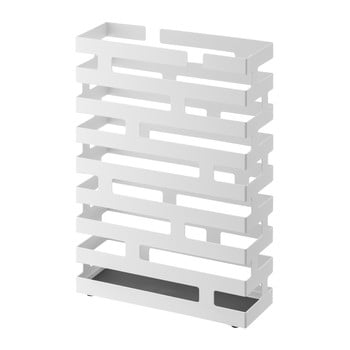 Suport pentru umbrele YAMAZAKI Brick, lățime 30 cm, alb