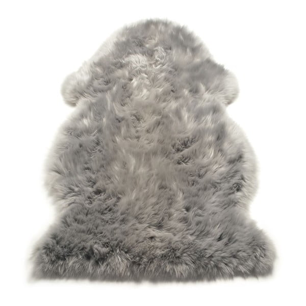 Koberec Single Sheepskin Silver, 100x100 cm