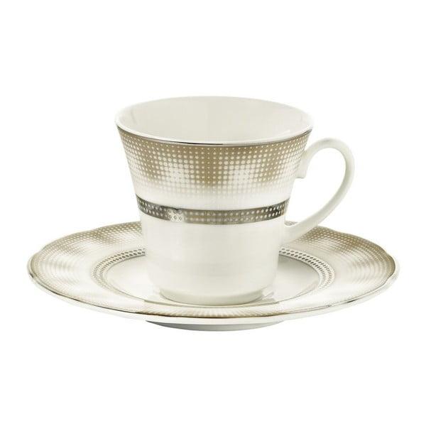 Zestaw 6 filiżanek porcelanowych ze spodkami Kutahya Egypt, 50 ml