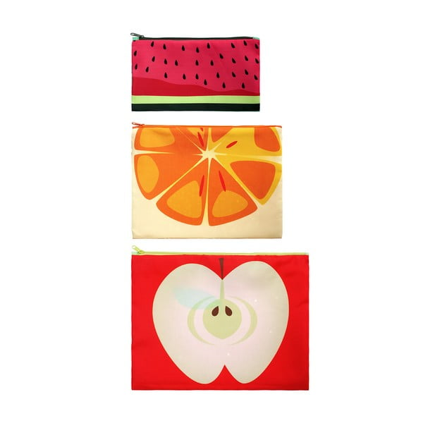 Sada 3 univerzálních taštiček Frutti