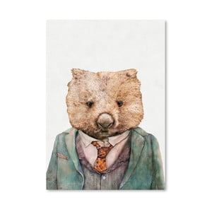 Plakát Wombat, 30x42 cm