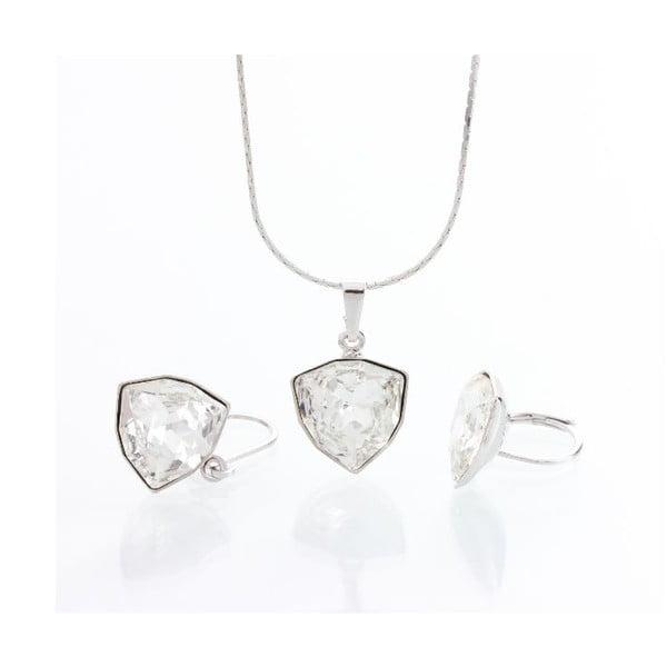 Set náhrdelníku a náušnic Laura Bruni Geometric Rhodium