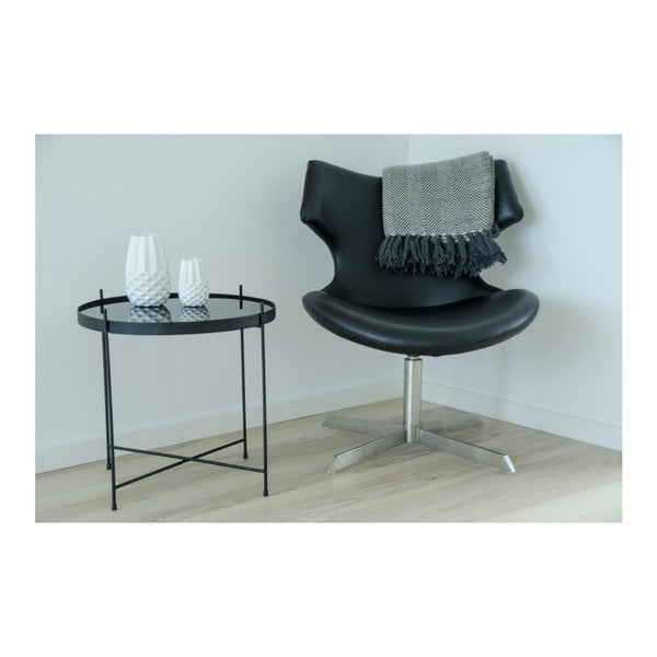 Černobílá deka House Nordic Cort,170x130cm