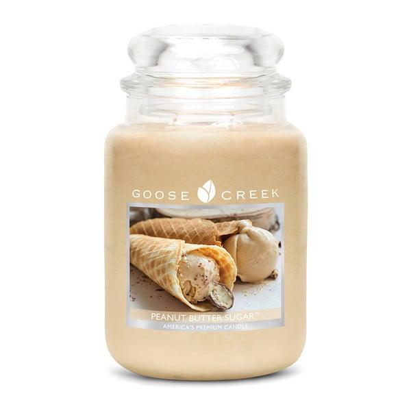 Vonná sviečka v sklenenej dóze Goose Creek Arašidové sladké maslo, 150 hodín horenia