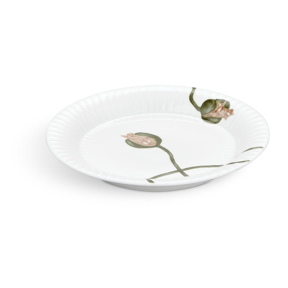 Bílý porcelánový talíř Kähler Design Hammershøi Poppy, ø19cm Kähler Design