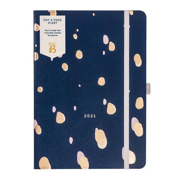 Napi bontású kék határidőnapló, 384 lap - Busy B