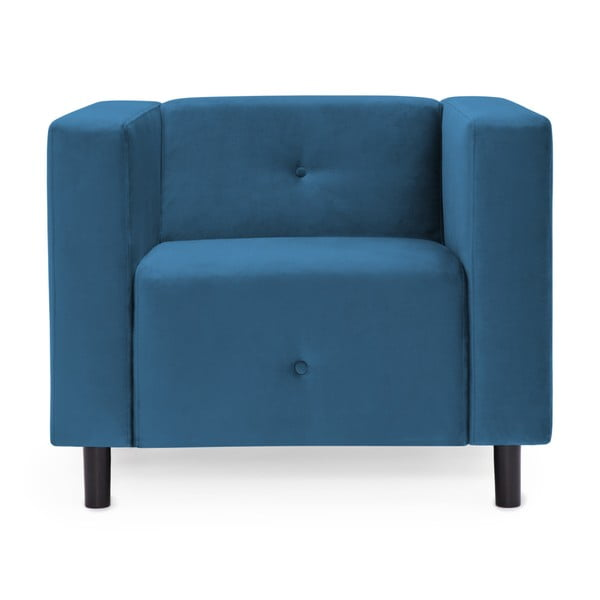 Modré křeslo Vivonita Milo