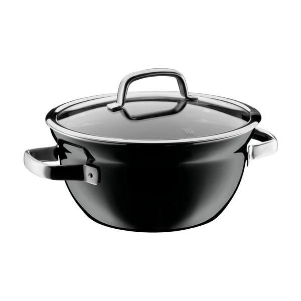 Bol pentru gătit cu capac WMF Fusiontec, ø 24 cm, negru