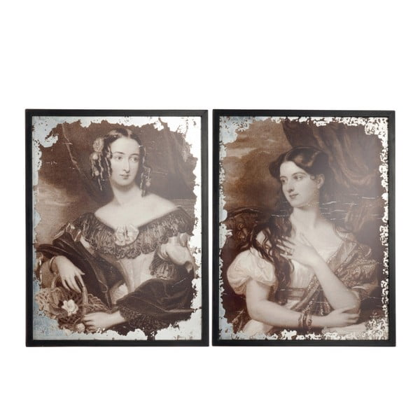 Sada dvou obrazů Antique