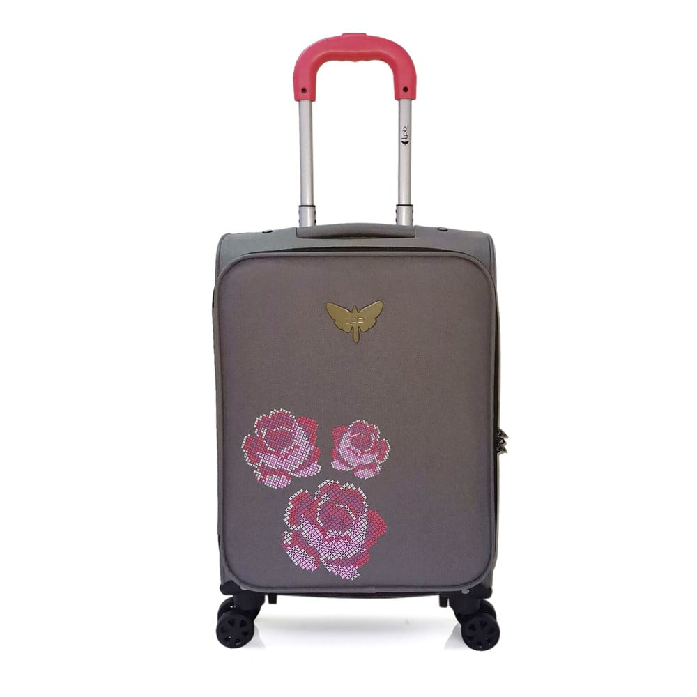 Šedé kabinové zavazadlo na 4 kolečkách LPB Joanna, 40 l