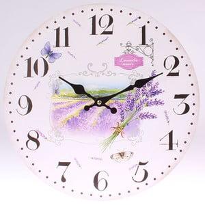 Dřevěné hodiny Lavender Manor, 34 cm