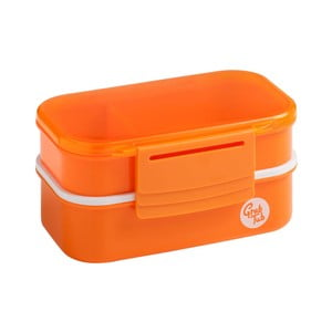 Set 2 oranžových svačinových boxů Premier Housewares Grub Tub,13,5x10cm