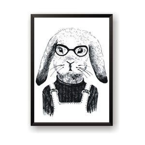 Plakát Nord & Co Hipster Rabbit, 21 x 29 cm
