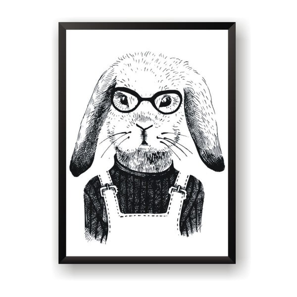 Poster Nord & Co Hipster Rabbit, 40 x 50 cm