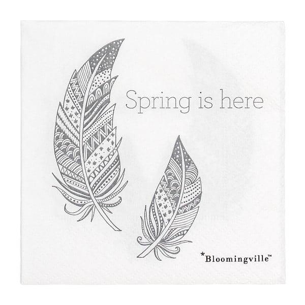 Spring 20 db-os papírszalvéta szett, 25x25cm - Bloomingville