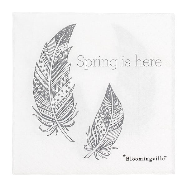 Sada 20 papírových ubrousků Bloomingville Spring, 25x25cm