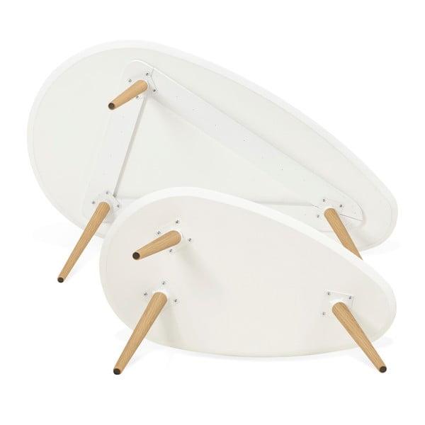 Sada 2 konferenčních stolků s bílou deskou Kokoon Gosmi