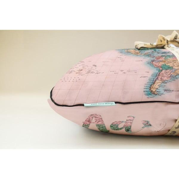 Polštář Really Nice Things Pillow Map, 50x35 cm