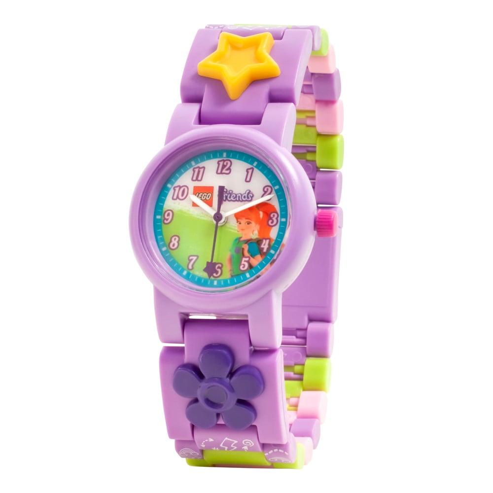 Fialové náramkové hodinky se skládacím řemínkem LEGO® Friends Mia