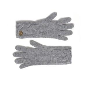 Šedé kašmírové rukavice Bel cashmere Lela