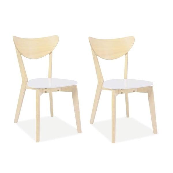 Sada 2 jídelních židlí CD-19, světlé