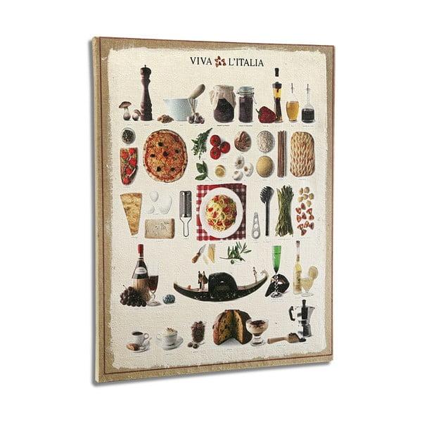 Dřevěný obraz Versa Italian Kitchen,50x45cm