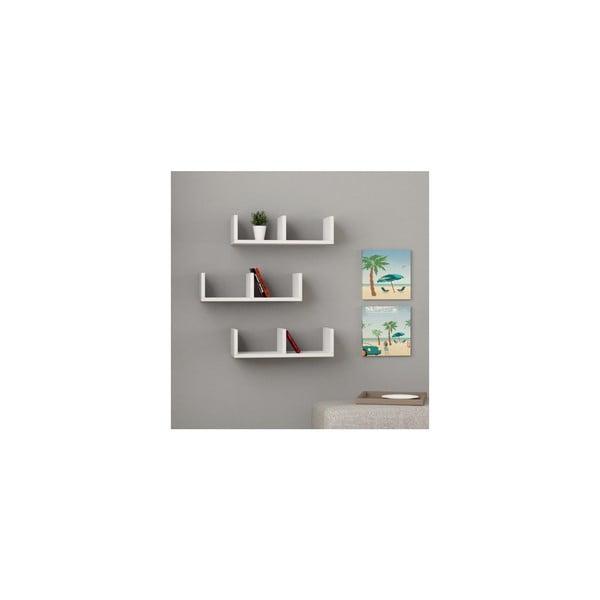Set 3 rafturi pentru cărți Homemania U Model