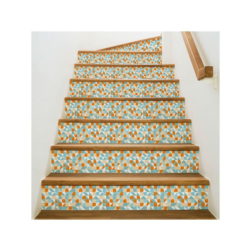 Sada 2 samolepek na schody Ambiance Stairs Stickers Aslonug, 15 x 105 cm